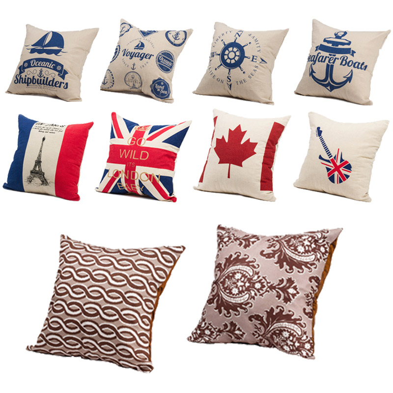 Nautical Throw Pillow Cases : BN Stripe Nautical Decorative Throw Sofa Pillow Cases Cushion Cover Square eBay