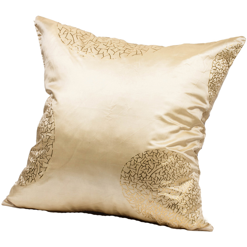 Silk Decorative Pillow Covers : Beige Taffeta Faux Silk Decorative Cushion Covers Throw Pillow Cases BN 18 45cm eBay