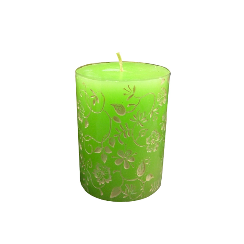 Floral Solid Cylinder Candle Mold DIY Silicone Candle Mold Handmade Candle Mould