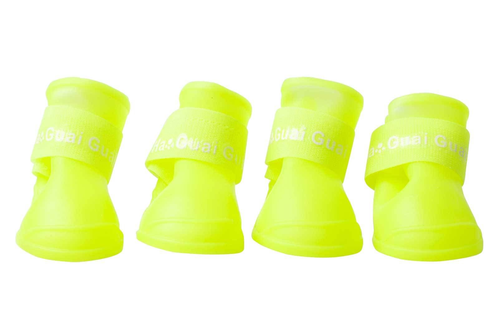 Pet-Dog-Rain-Boots-Booties-Candy-Fashion-Rubber-Waterproof-Shoes-5-Color-S-M-L