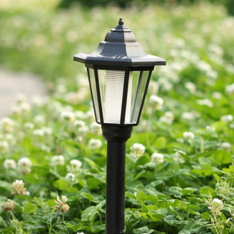 Landscape Lighting Garden Post : Outdoor garden solar lamp post landscape path light street