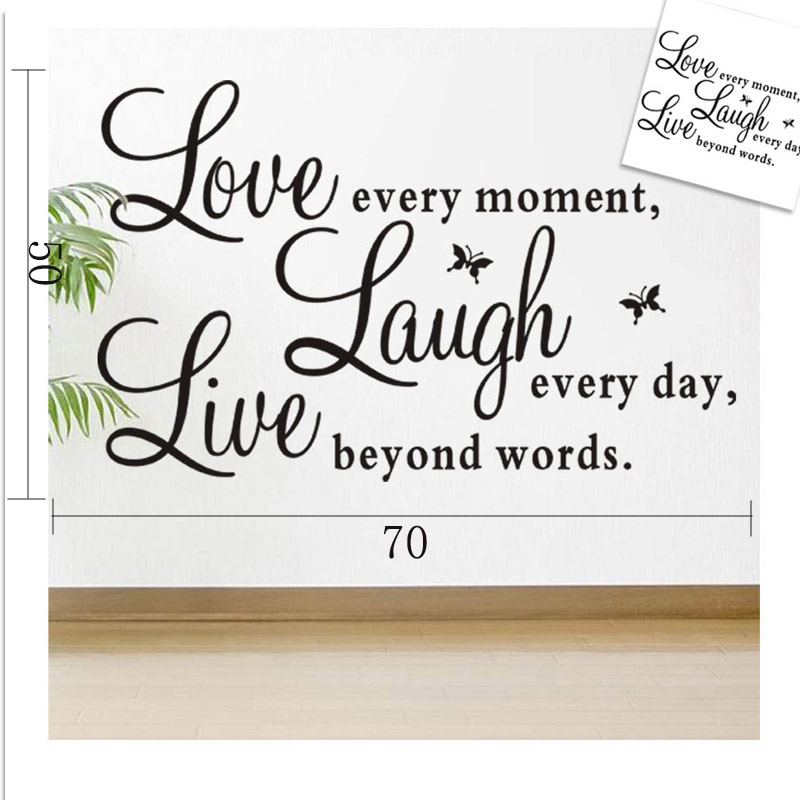 Diy live laugh love home wall art sticker vinyl quote love for Live laugh love wall art